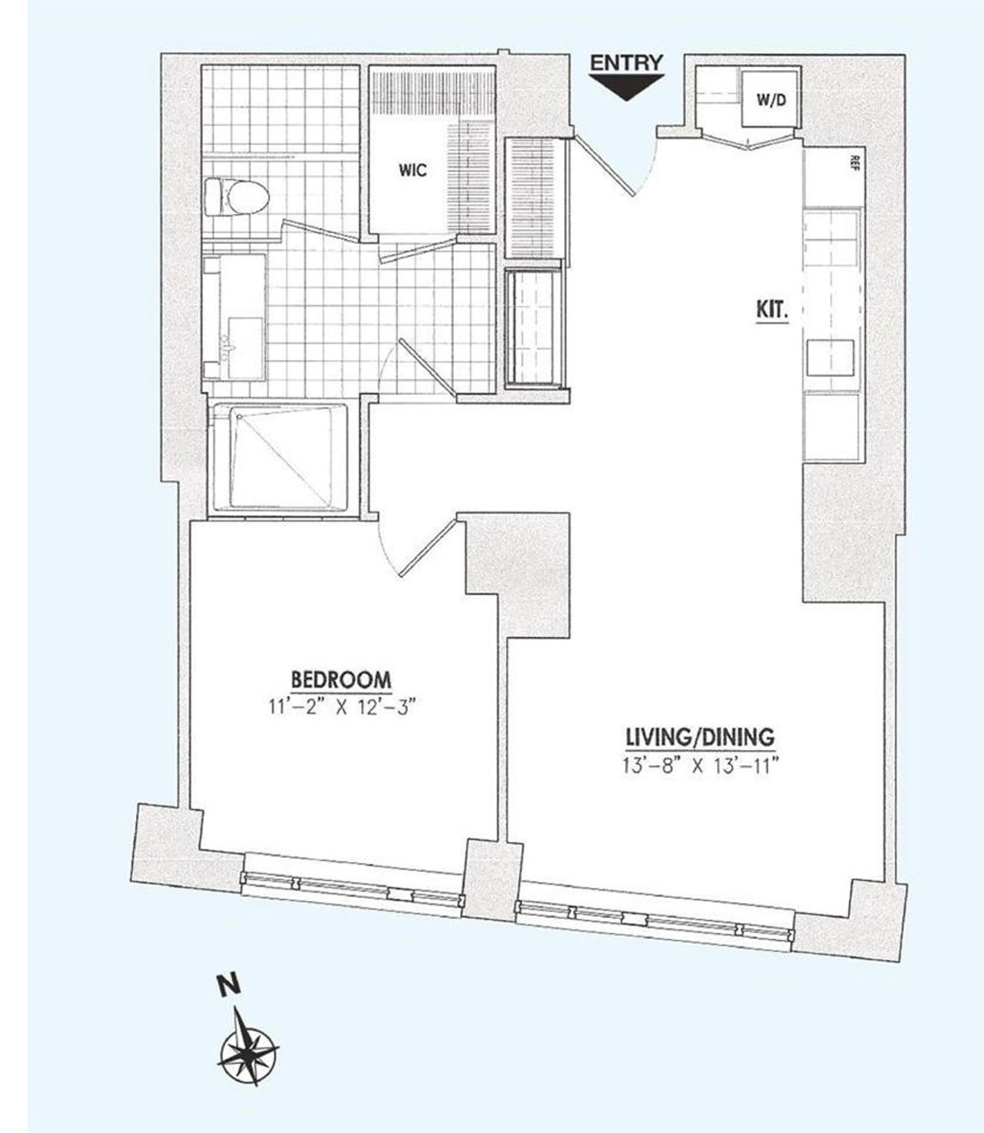 Floor plan of 15 William, 15 William St, 30B - Financial District, New York
