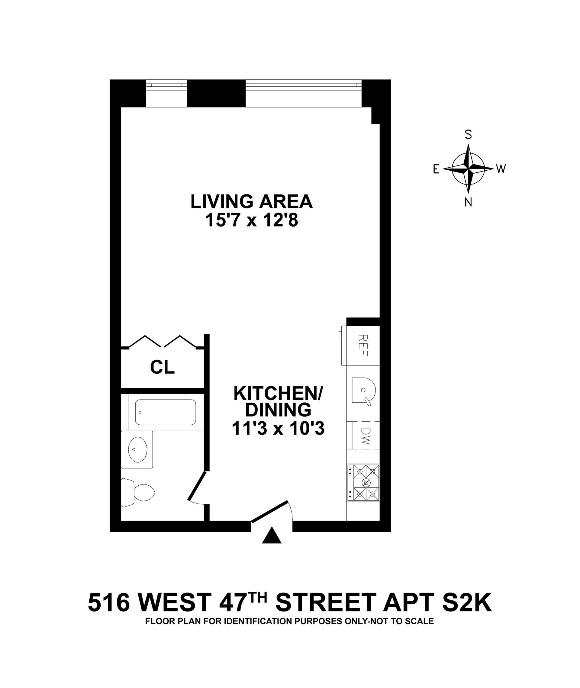 Floor plan of Clinton West, 516 West 47th St, S2K - Clinton, New York