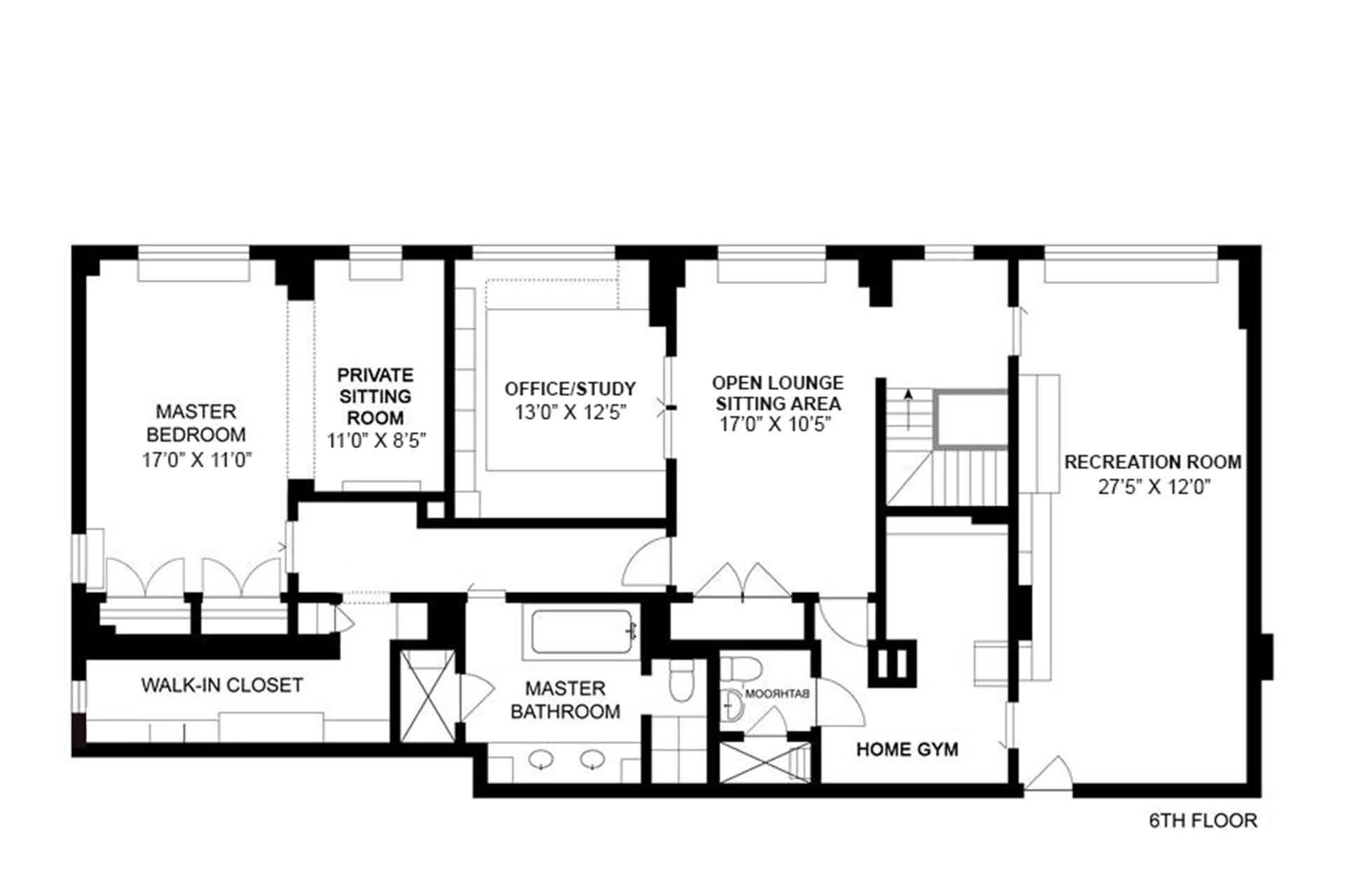 Floor plan of 200 East 84th St, 5/6G - Upper East Side, New York