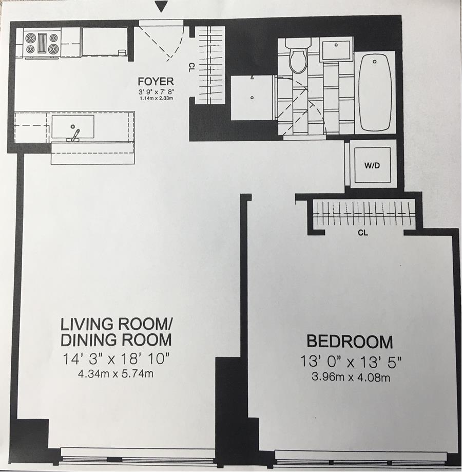 Floor plan of 200 West End Condominium, 200 West End Avenue, 12M - Upper West Side, New York