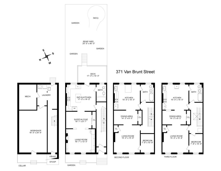 Floor plan of 371 Van Brunt St - Red Hook, New York