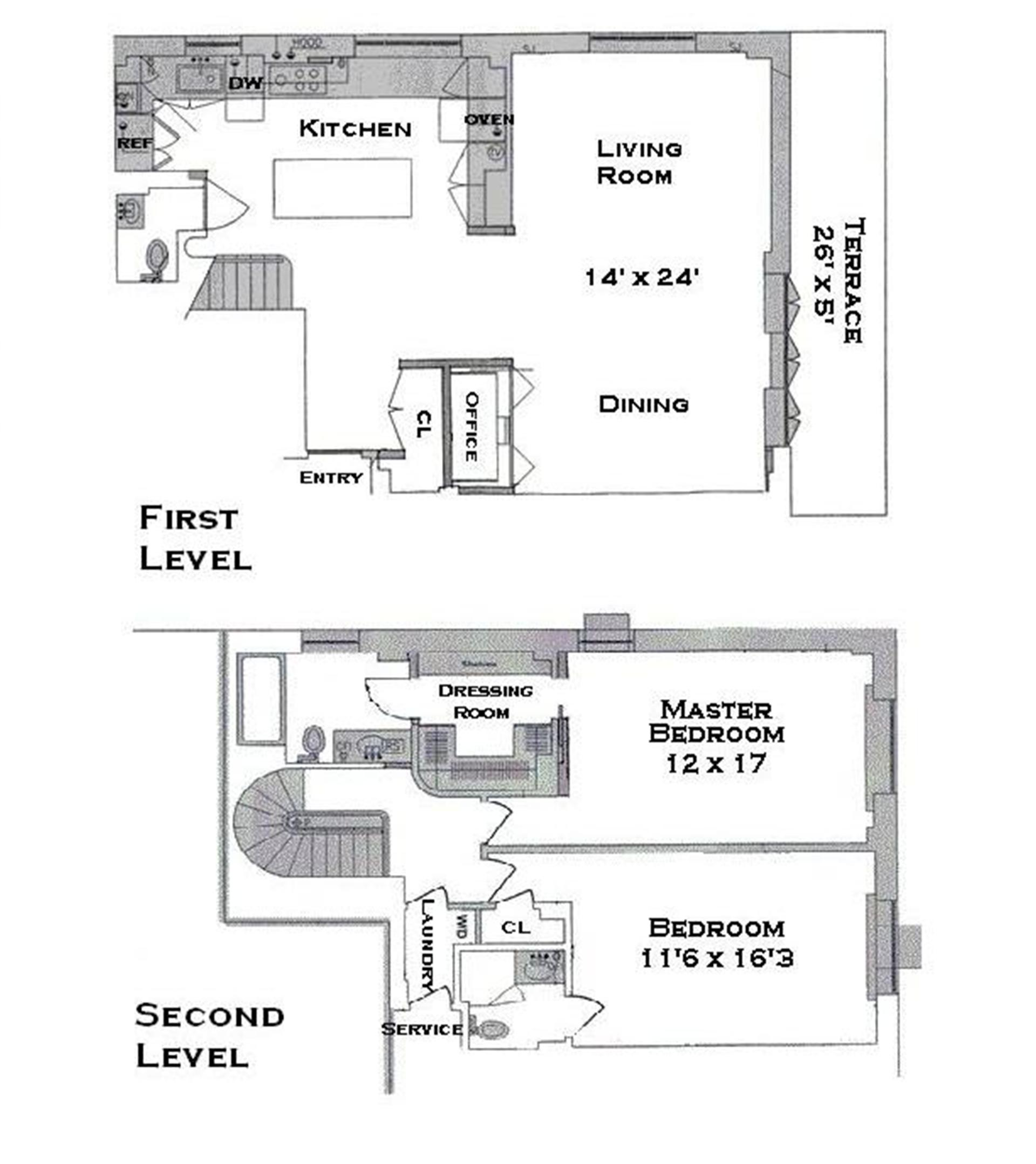 Floor plan of 45 West 54th Street, 11A - Midtown, New York