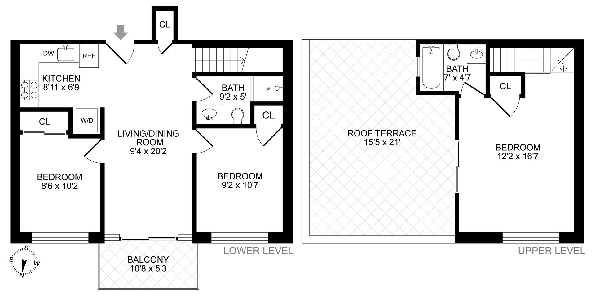 Floor plan of 294 Quincy St, 4F - Bedford - Stuyvesant, New York