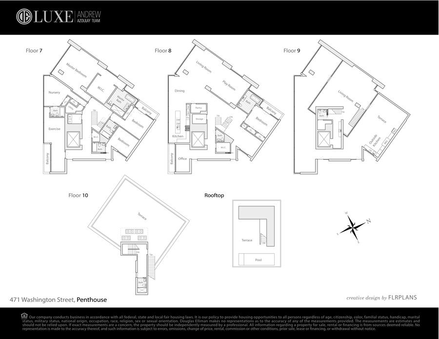 Floor plan of 471 Washington St, 7/8 - TriBeCa, New York
