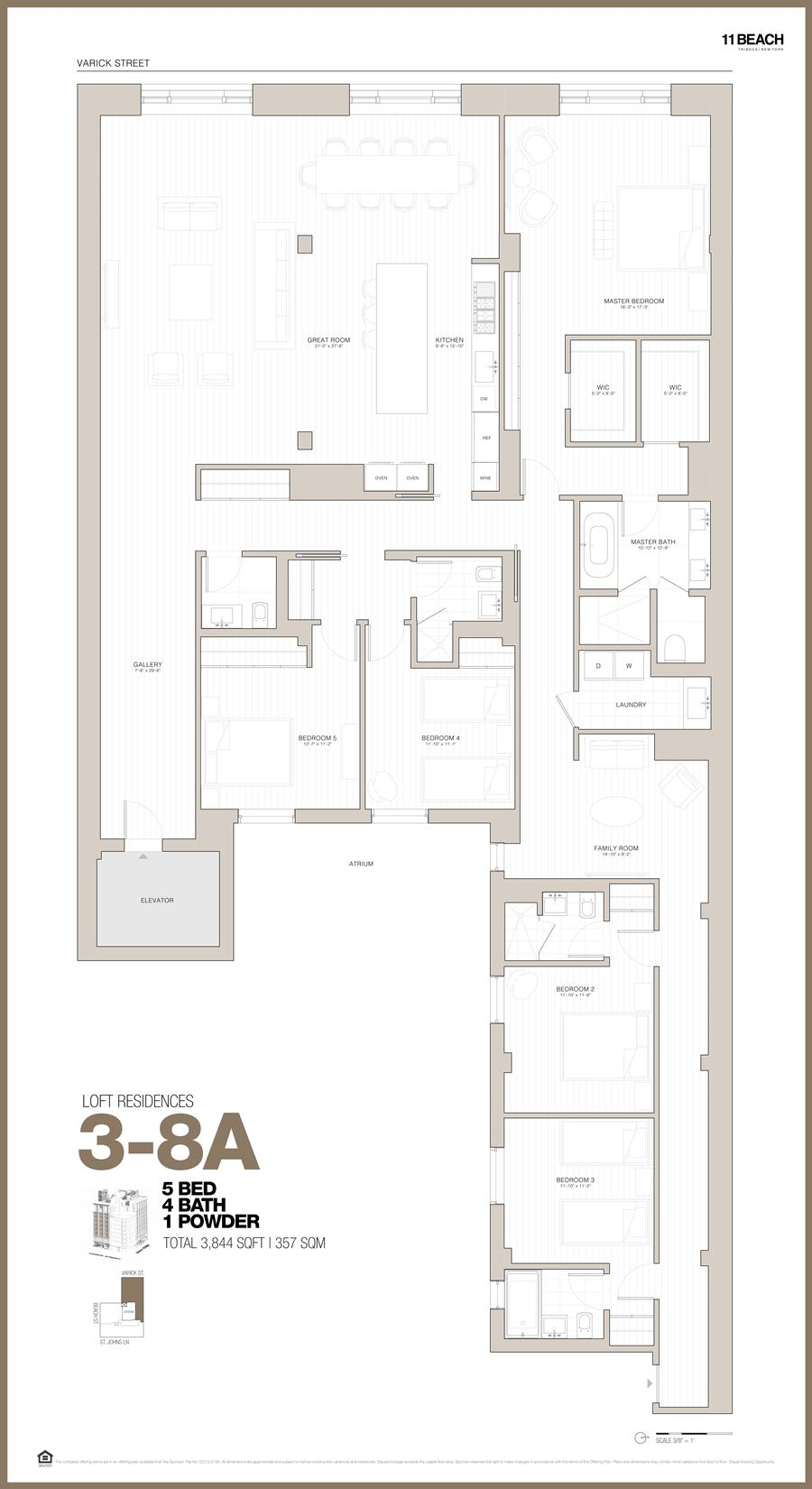 Floor plan of 11 Beach St, 6A - TriBeCa, New York