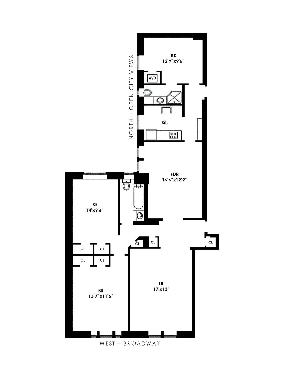 Floor plan of Avonova, 219 West 81st St, 12HJ - Upper West Side, New York