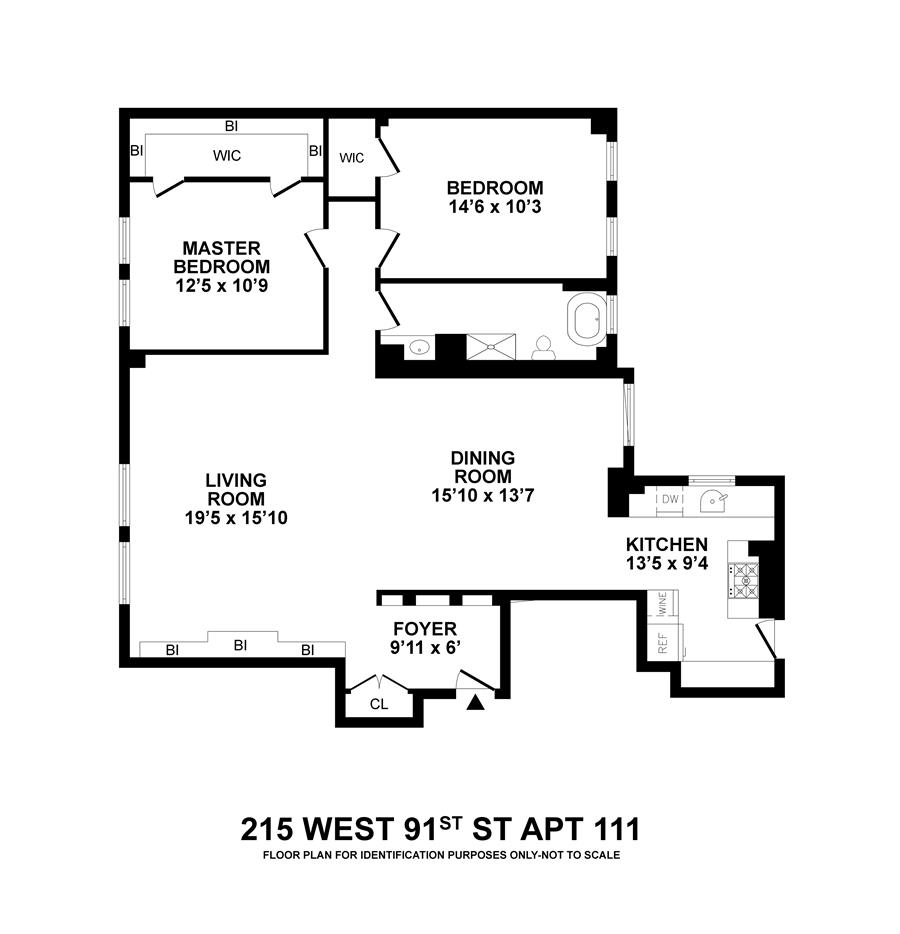 Floor plan of De Soto, 215 West 91st St, 111 - Upper West Side, New York