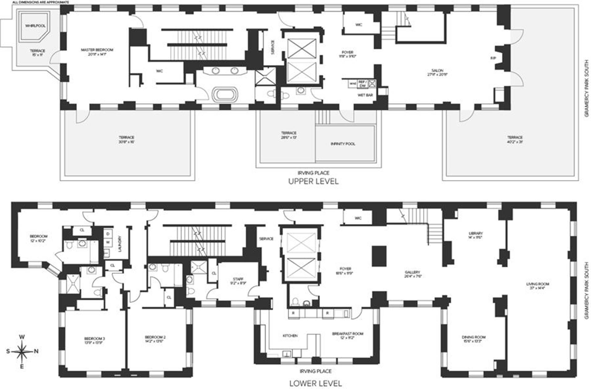 Floor plan of 18 Gramercy Park South, PH - Gramercy - Union Square, New York