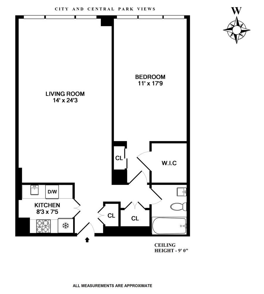 Floor plan of 300 East 59th St, PH3604 - Upper East Side, New York
