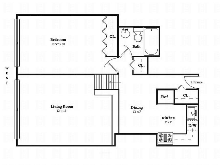 Floor plan of BLEECKER COURT, 77 Bleecker St, 724 - Greenwich Village, New York