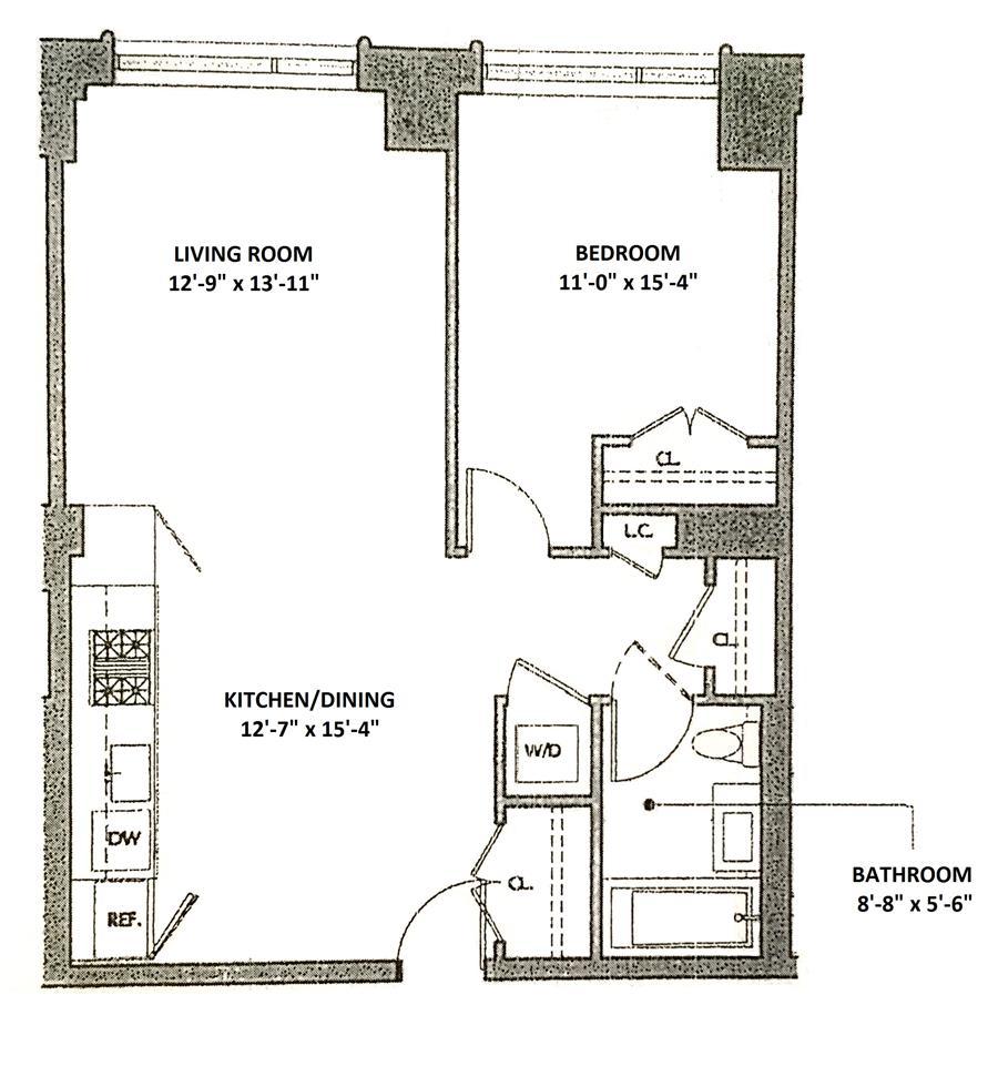 Floor plan of + ART, 540 West 28th St, 2D - Chelsea, New York