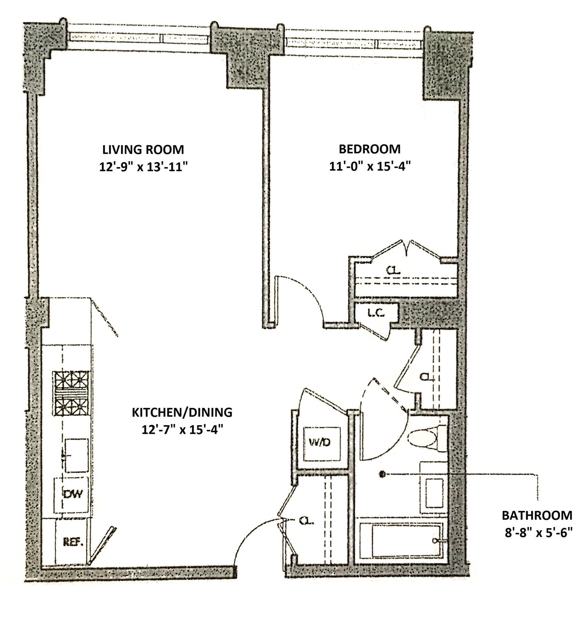 Floor plan of + ART, 540 West 28th St, 2D - Chelsea, New York