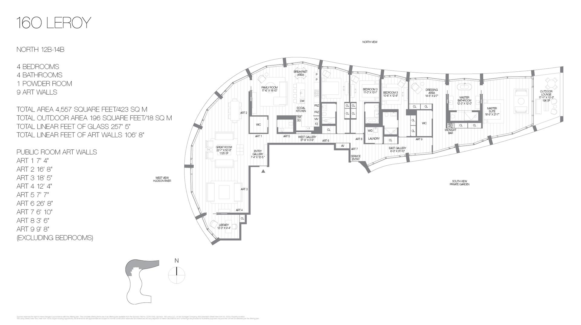 Floor plan of 160 Leroy St, NORTH12B - West Village - Meatpacking District, New York
