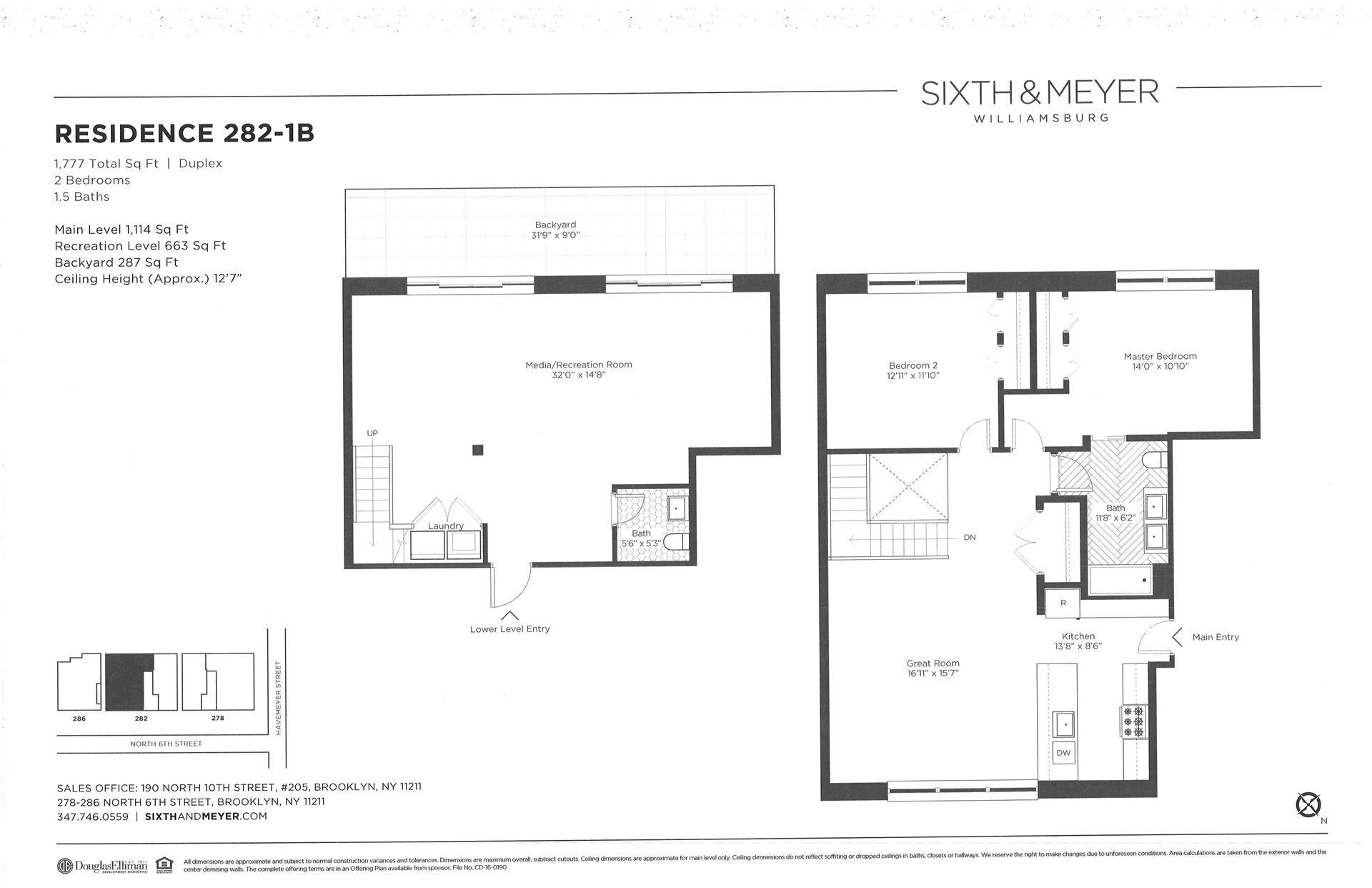 Floor plan of Sixth & Meyer, 278-286 North 6th St, 282/1B - Williamsburg, New York