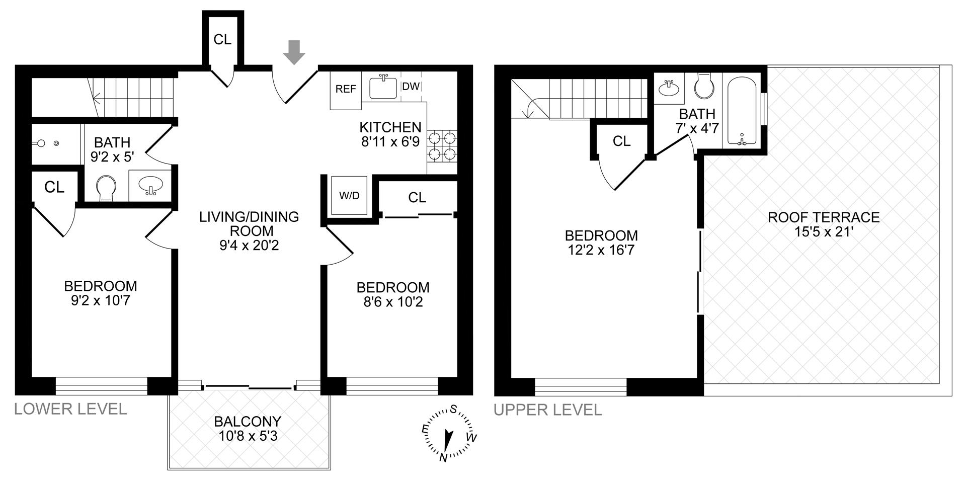 Floor plan of 292 Quincy St, 4F - Bedford - Stuyvesant, New York