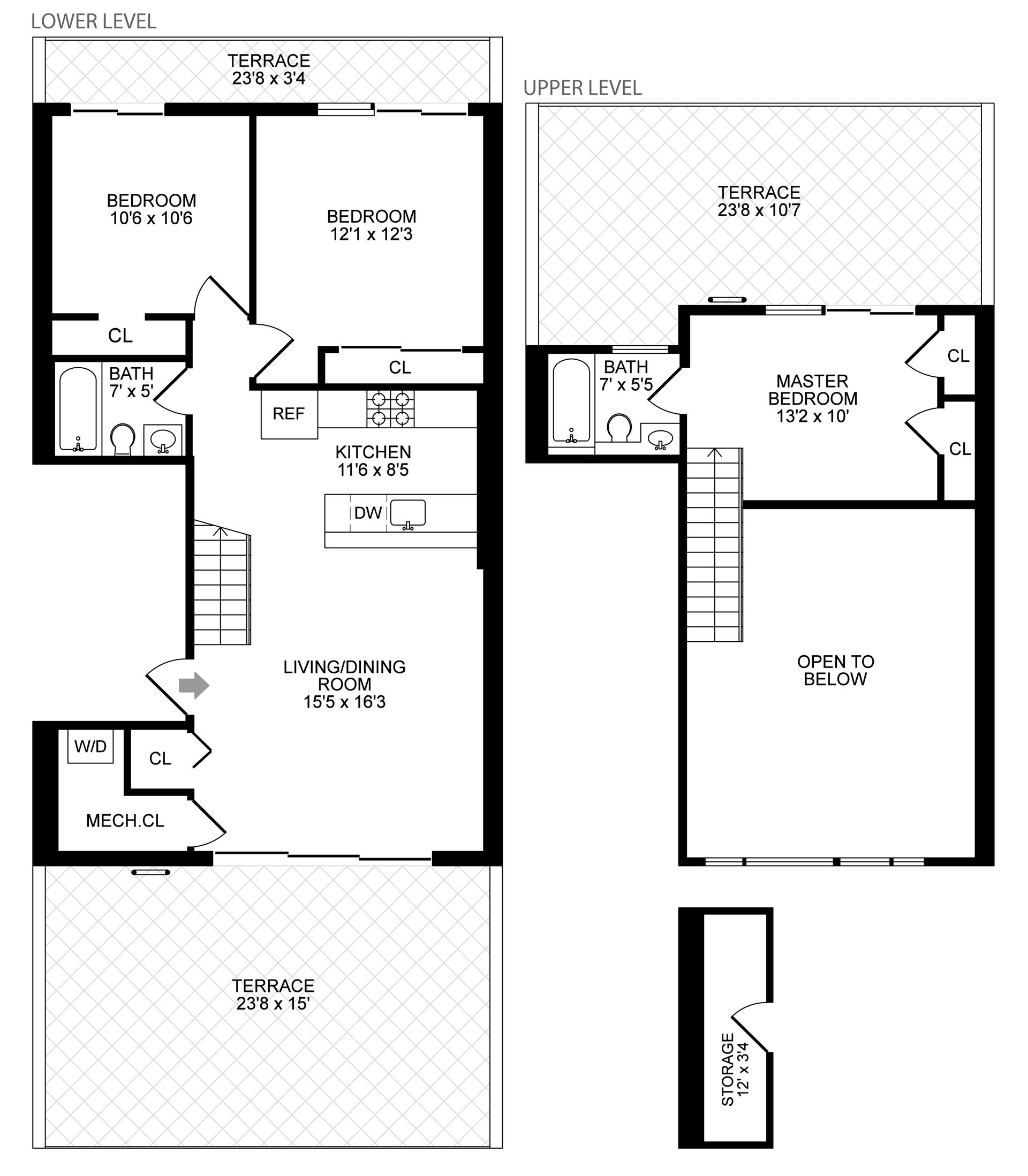 Floor plan of 251 Withers St, 4A - East Williamsburg, New York