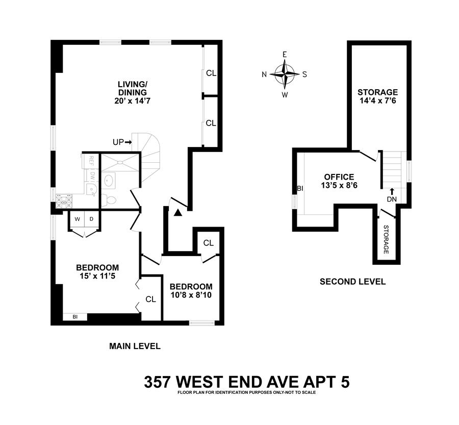 Floor plan of 357 West End Avenue, 5 - Upper West Side, New York