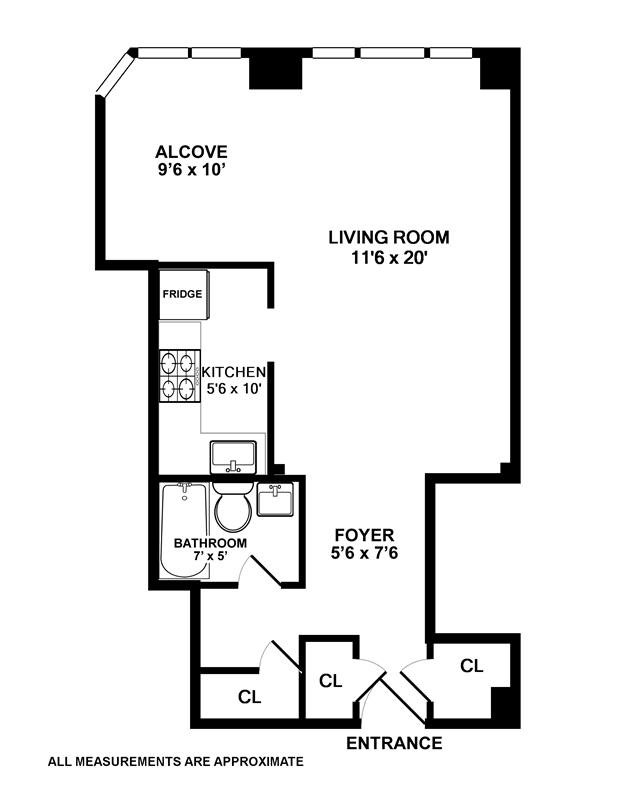Floor plan of 135 Willow St, 210 - Brooklyn Heights, New York
