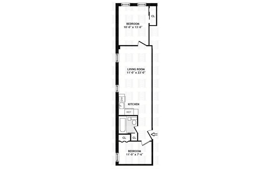 Floor plan of 203 West 87th St, 42 - Upper West Side, New York