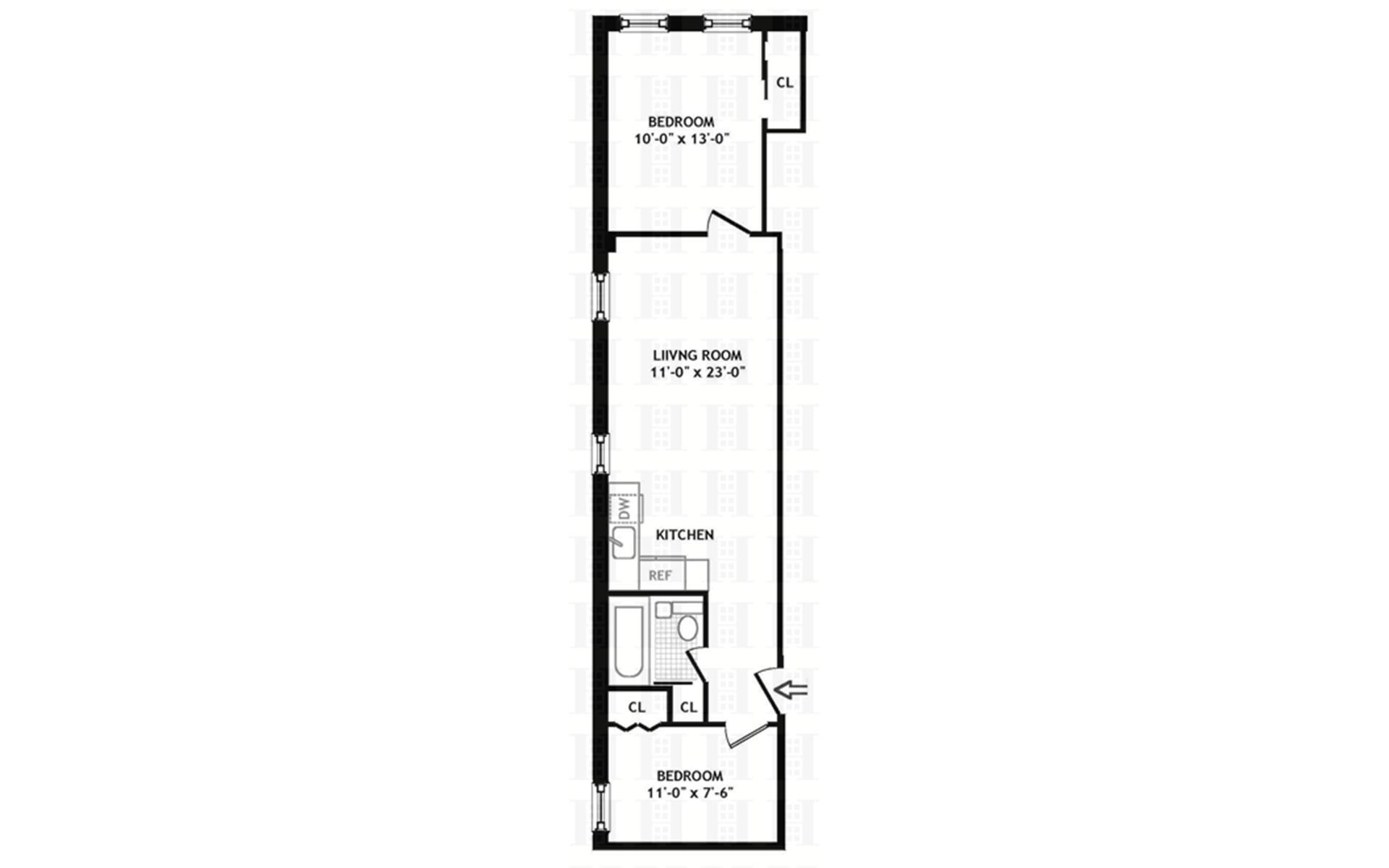 Floor plan of 203 West 87th St, 42 - Upper West Side, New York