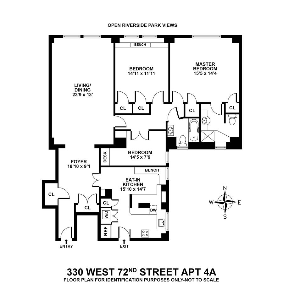 Floor plan of 33072 Owners Corporation, 330 West 72nd Street, 4A
