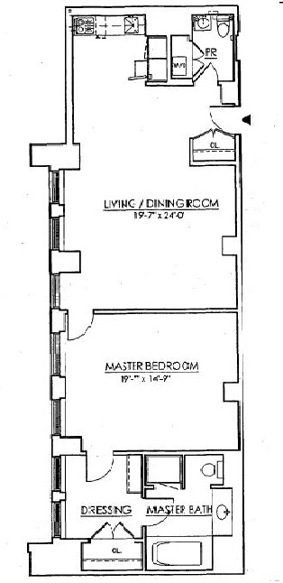 Floor plan of Cipriani Club Residences, 55 Wall St, 905 - Financial District, New York