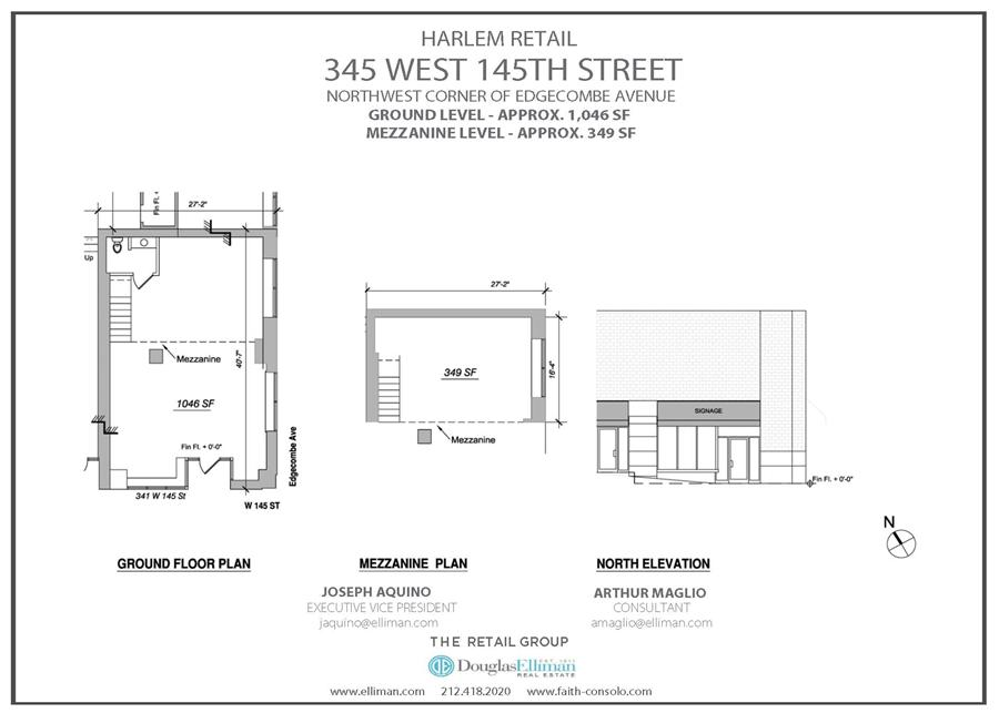 Floor plan of 345 West 145th Street, RETAIL - Harlem, New York