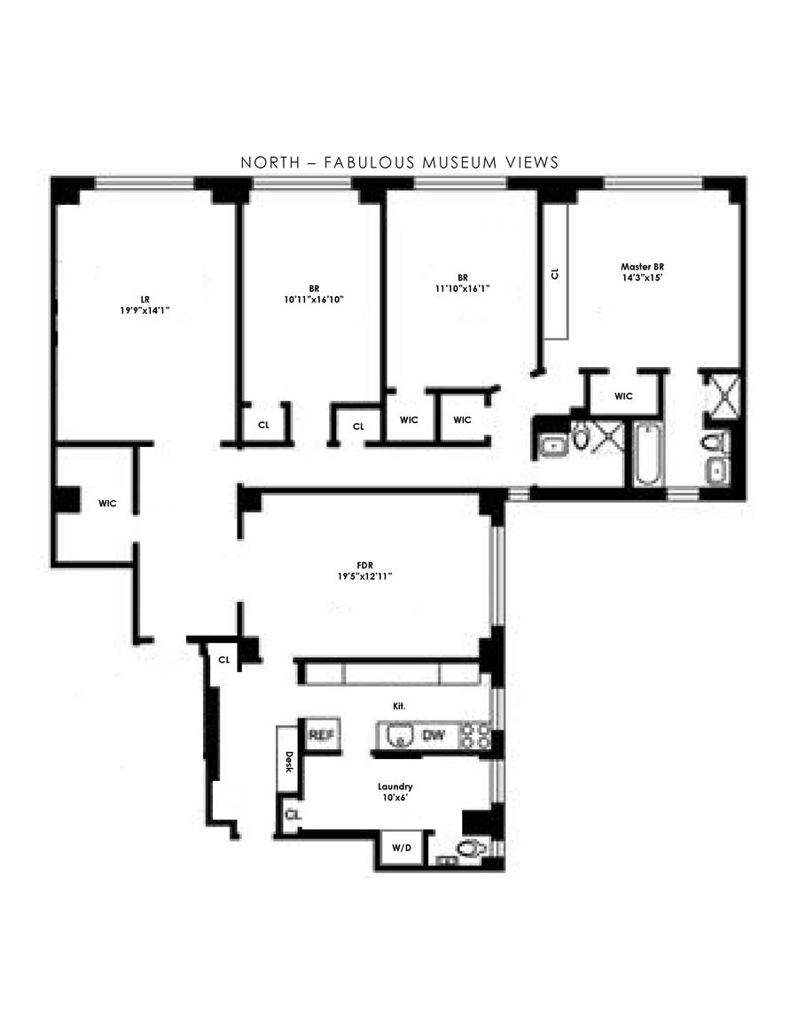 Floor plan of 6-16 West 77th St, 5E - Upper West Side, New York