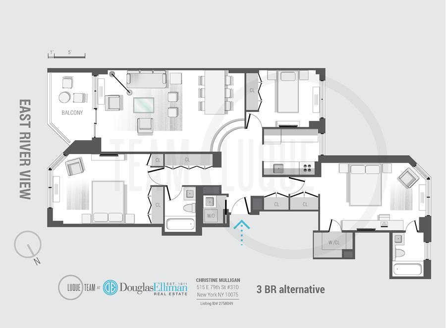 Floor plan of Asten House, 515 East 79th St, 31D - Upper East Side, New York
