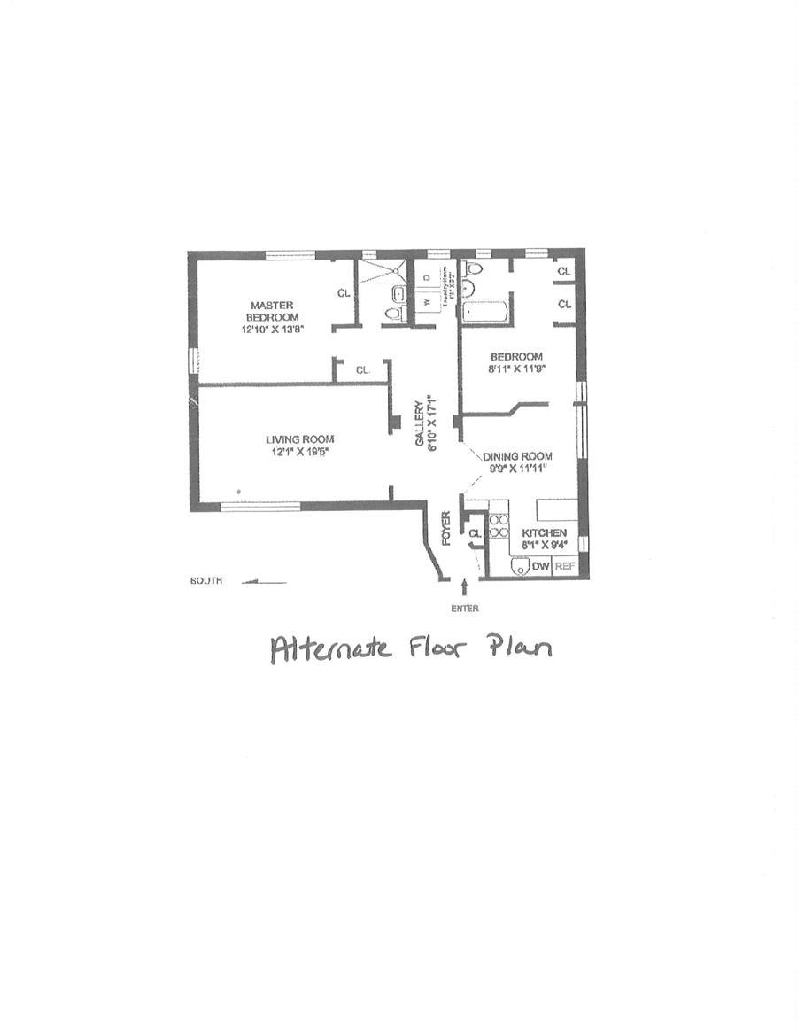 Floor plan of 400 West 58th St, 5JK - Clinton, New York