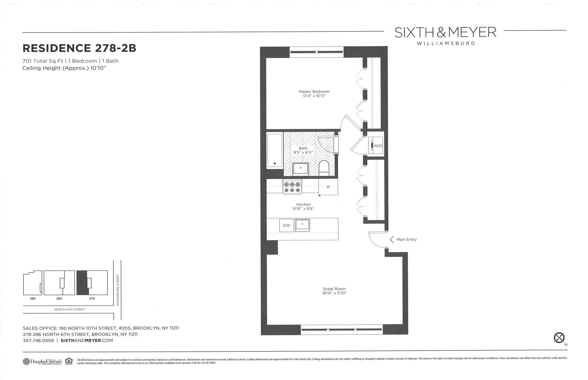 Floor plan of Sixth & Meyer, 278-286 North 6th St, 278/2B - Williamsburg, New York