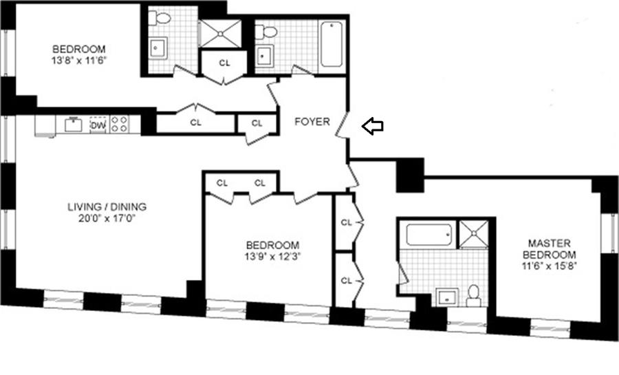 Floor plan of 20 Pine - The Collection, 20 Pine St, 2901 - Financial District, New York