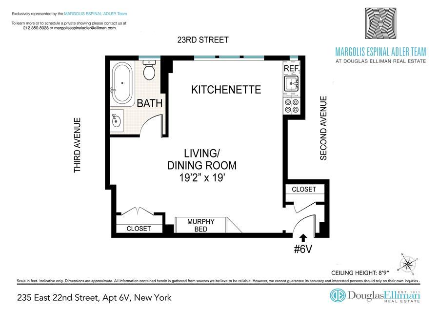 Floor plan of 235 East 22nd St, 6V - Gramercy - Union Square, New York