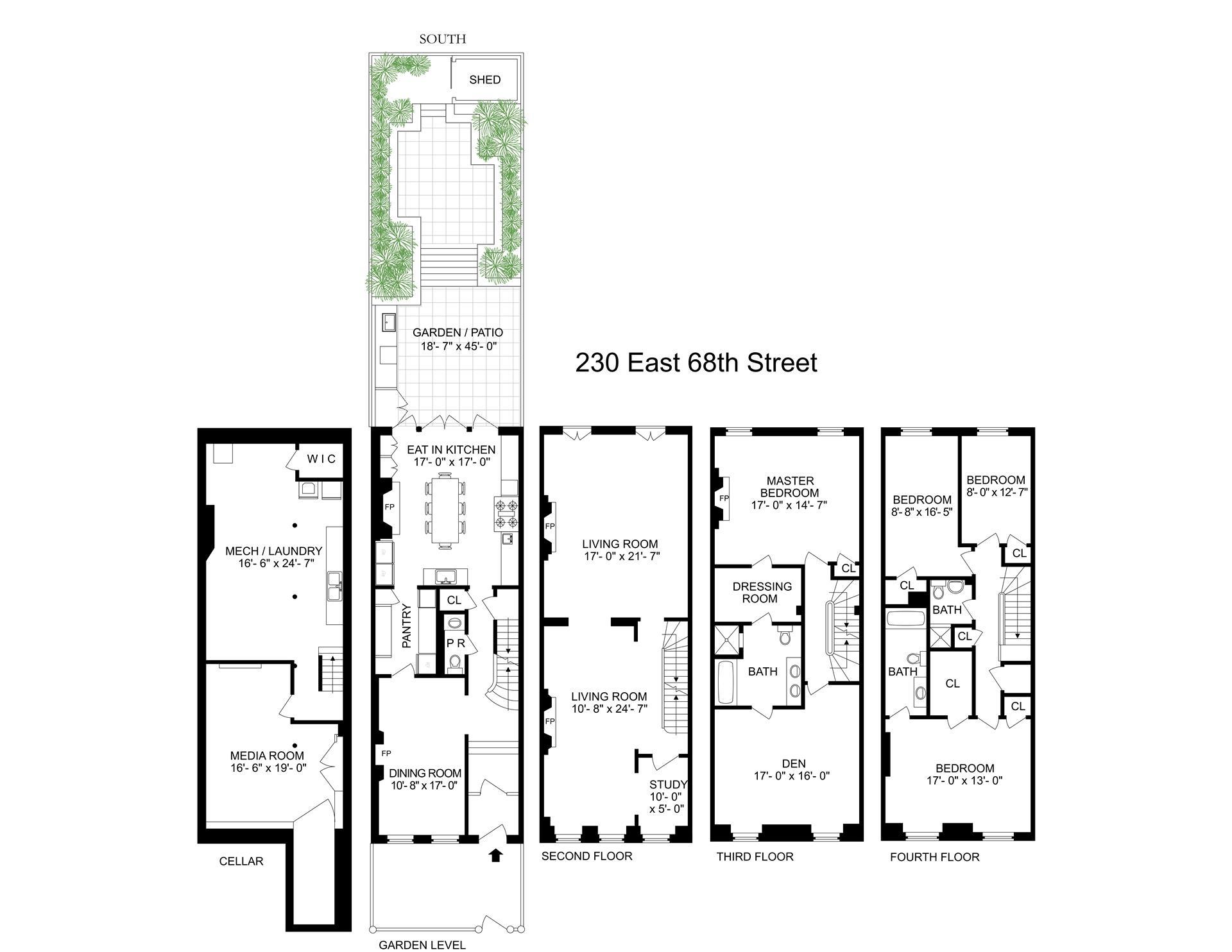 Floor plan of 230 East 68th St - Upper East Side, New York