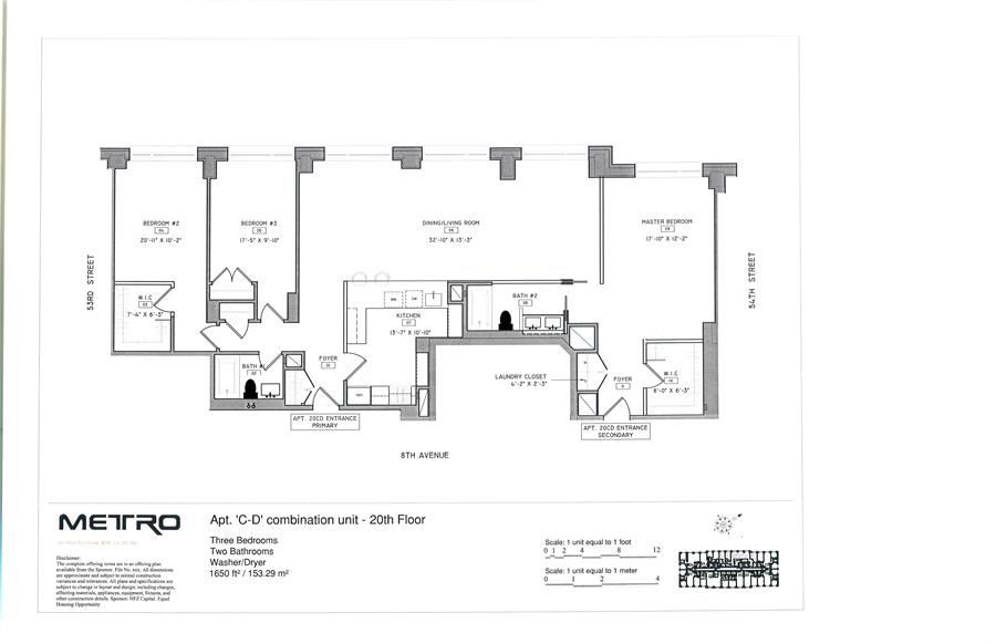 Floor plan of Fifty Third and Eighth, 301 West 53rd St, 20CD - Clinton, New York