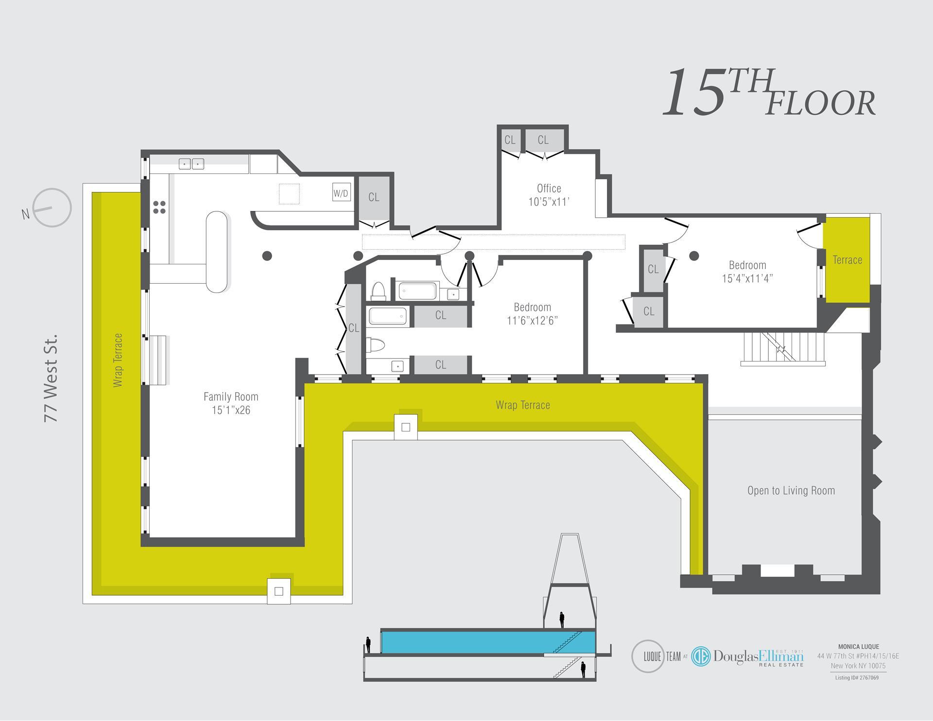 Floor plan of 44 West 77th St, PH14/15/16 - Upper West Side, New York