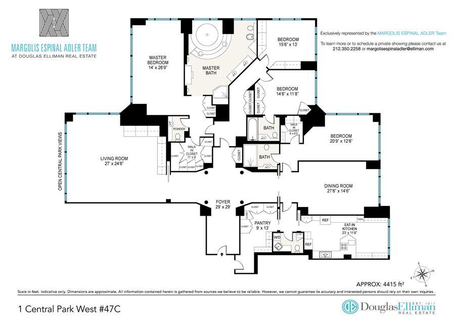 Floor plan of TRUMP INTERNATIONAL, 1 Central Park West, 47C - Upper West Side, New York
