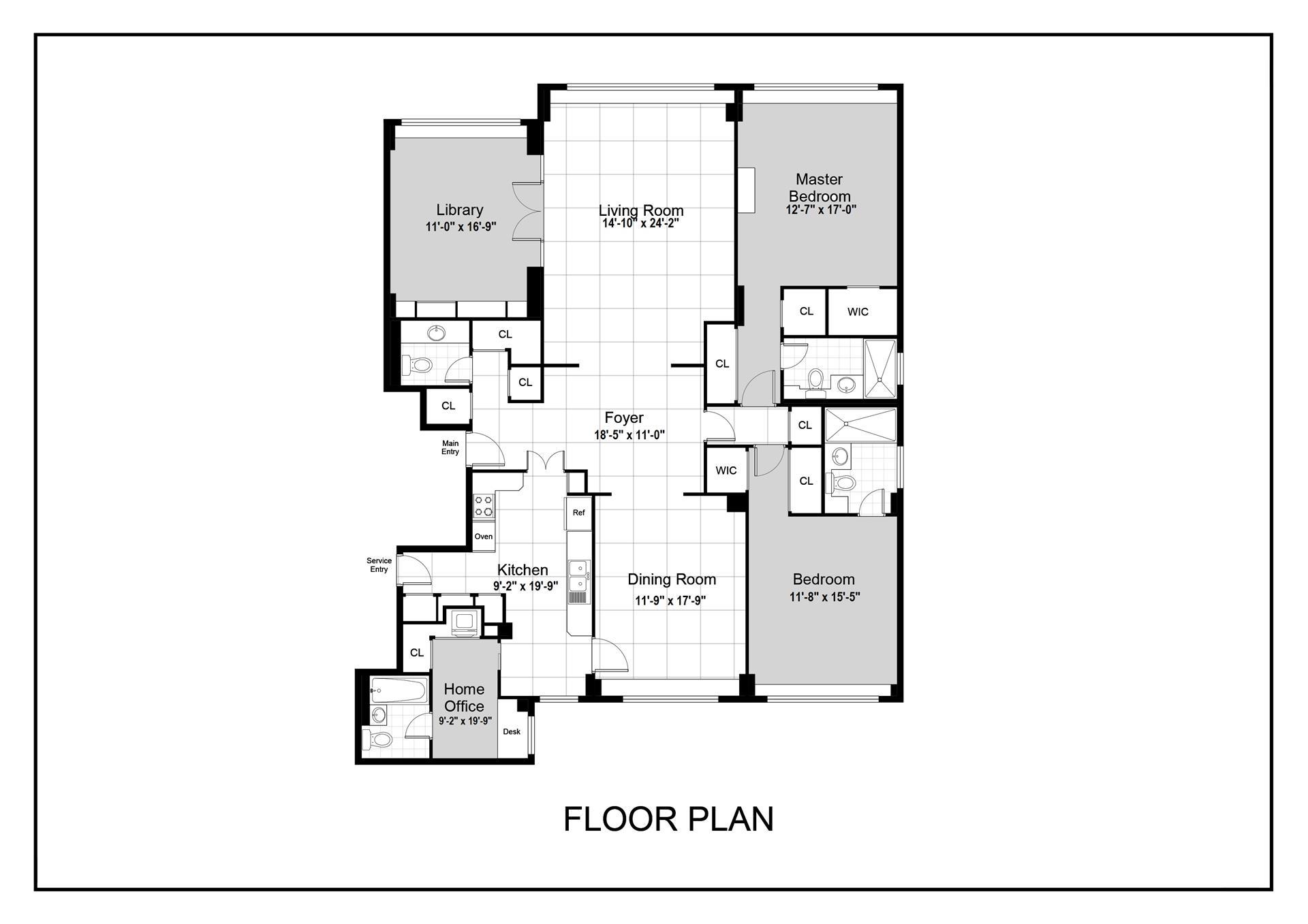 Floor plan of 175 East 62nd St, 9D - Upper East Side, New York