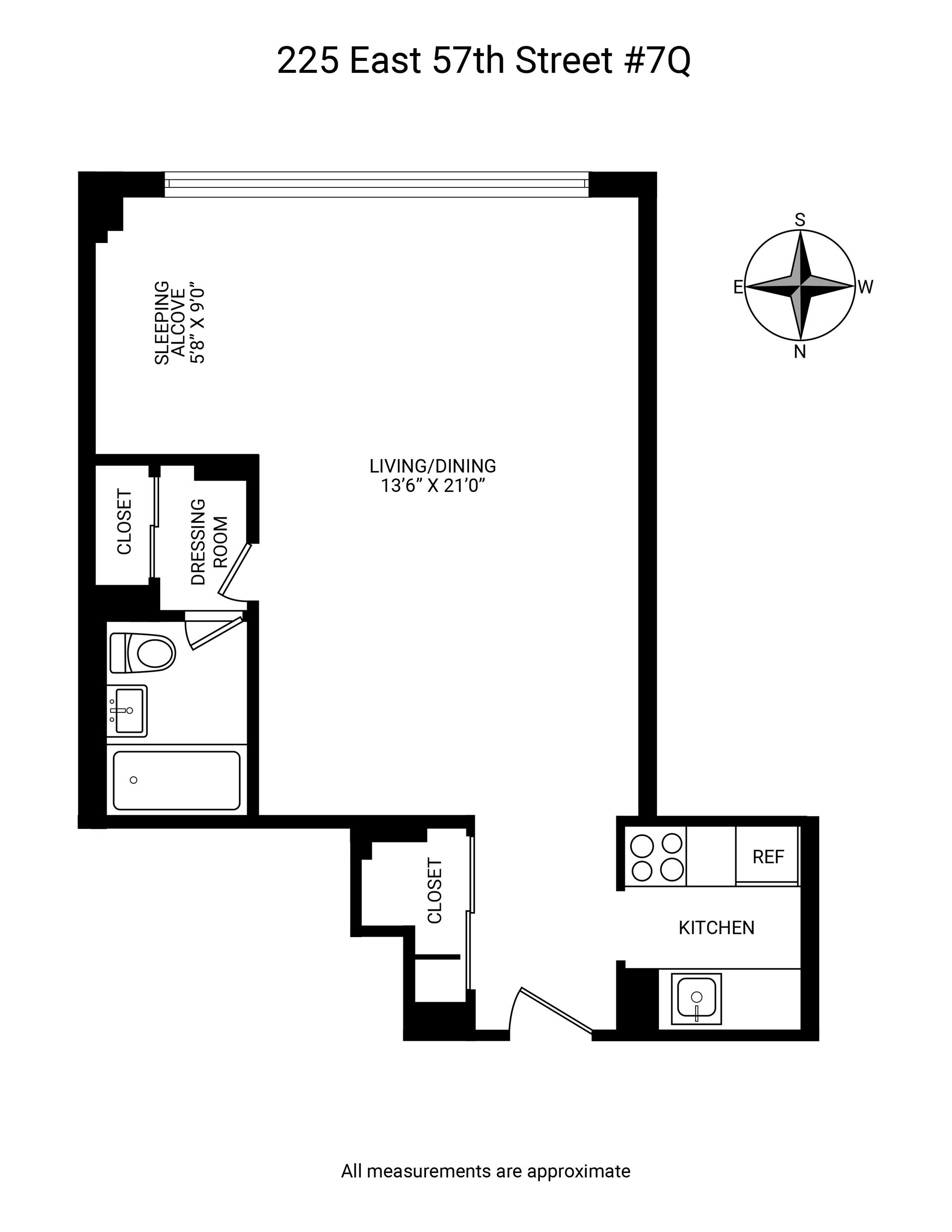 Floor plan of Harridge House, 225 East 57th St, 7Q - Sutton Area, New York