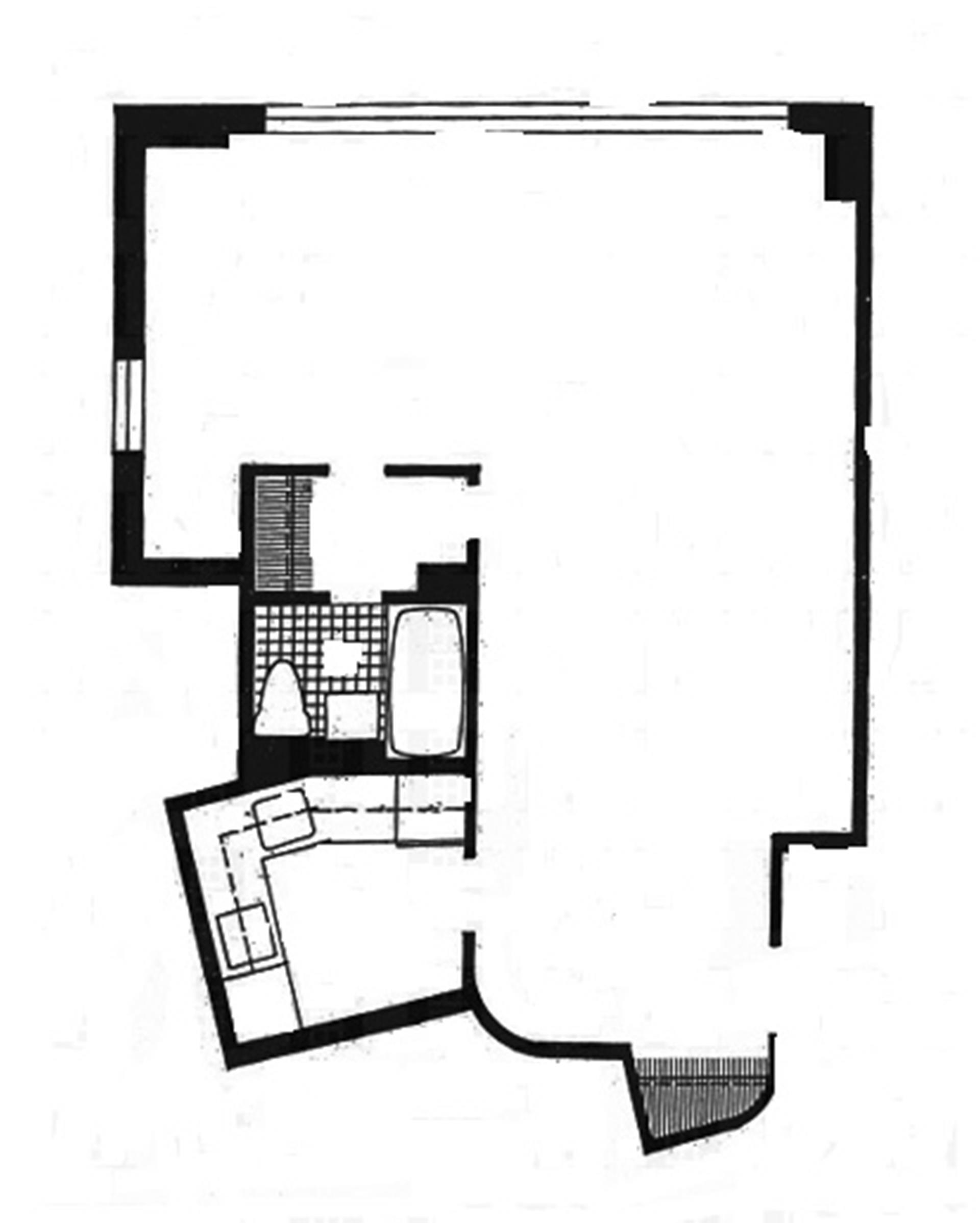 Floor plan of 1020 Grand Concourse, 9M - Highbridge, New York