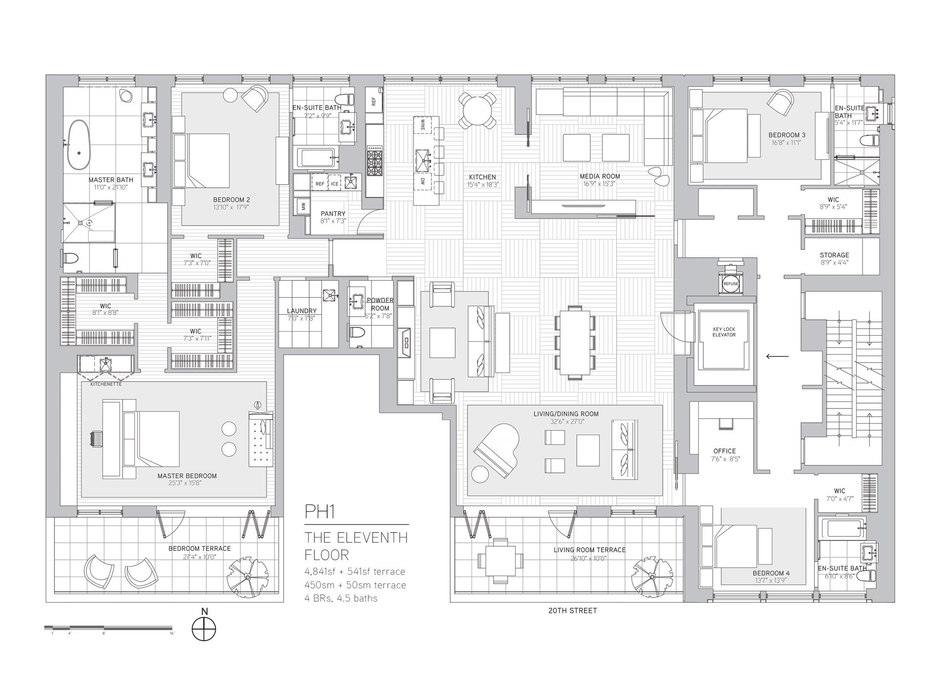 Floor plan of 21W20, 21 West 20th St, PH1 - Flatiron District, New York