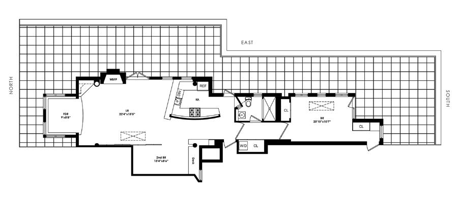 Floor plan of 610 West End Avenue, PHB - Upper West Side, New York