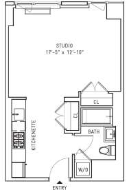 Floor plan of THE EDGE CONDOMINIUM, 22 North 6th St, 22E - Williamsburg, New York