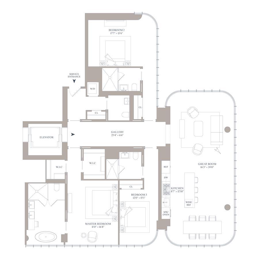 Floor plan of 565 Broome St, S19B - SoHo - Nolita, New York