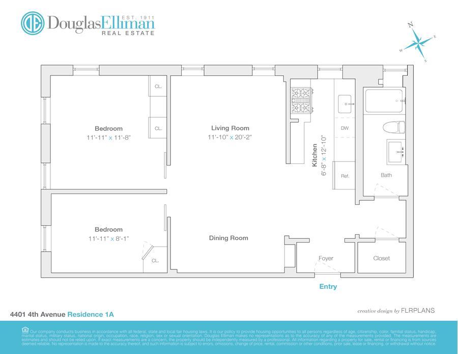 Floor plan of 4401 Fourth Avenue, A1 - Sunset Park, New York