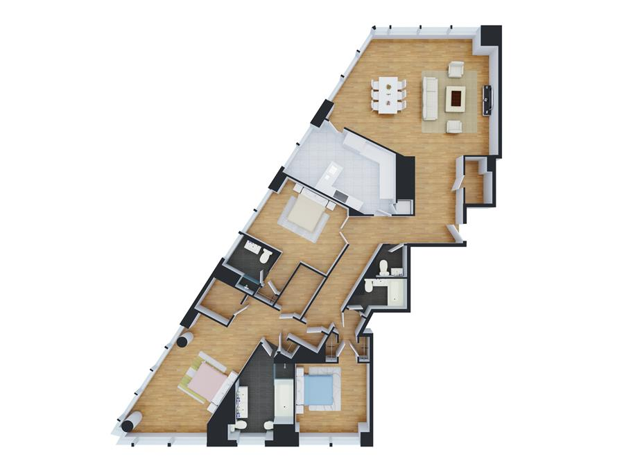 Floor plan of Time Warner Center, 25 Columbus Circle, 63A - Central Park South, New York