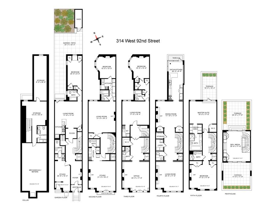 Floor plan of 314 West 92nd St - Upper West Side, New York