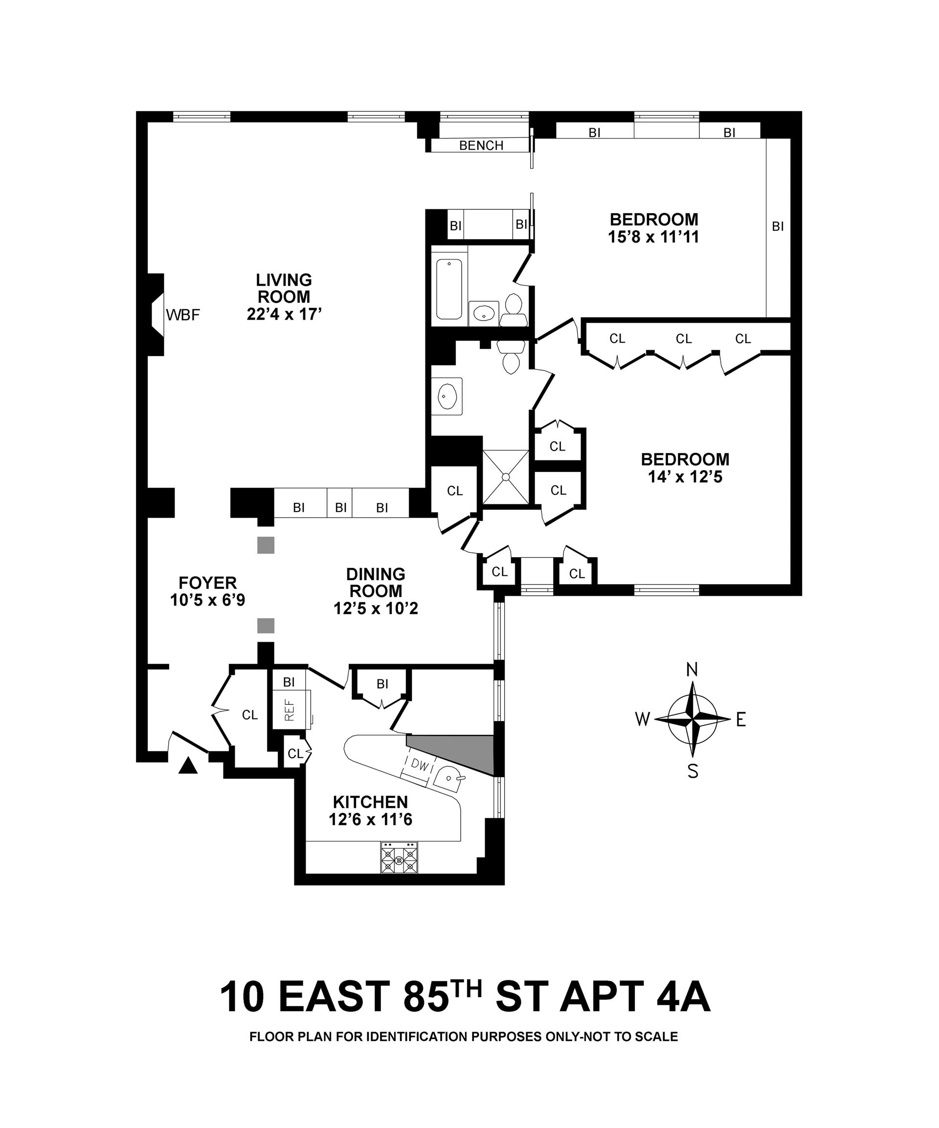 Floor plan of 10 East 85th Street, Inc., 10 East 85th St, 4A - Upper East Side, New York