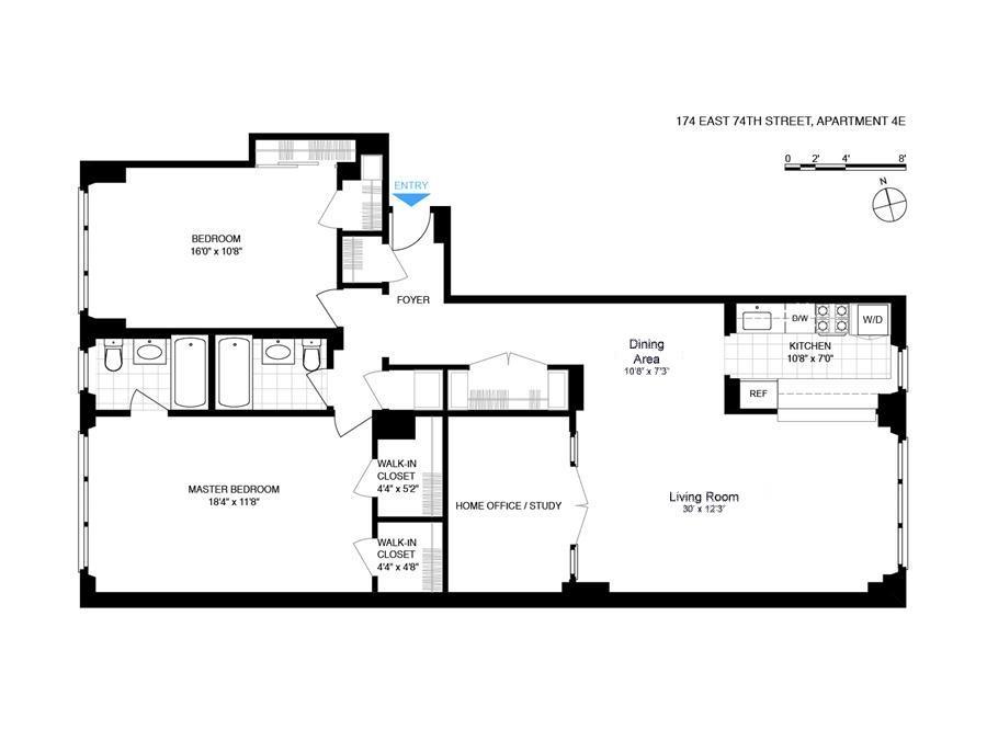Floor plan of 174 East 74th St, 4E - Upper East Side, New York