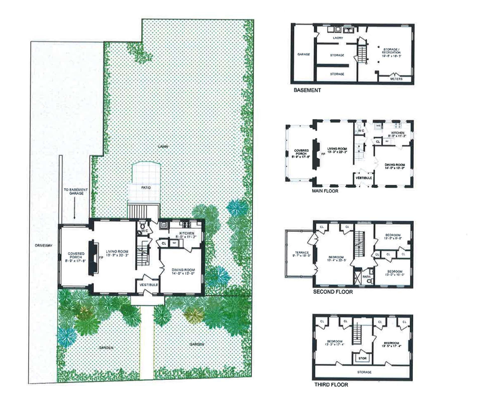 Floor plan of 4527 Delafield Avenue - Fieldston, New York